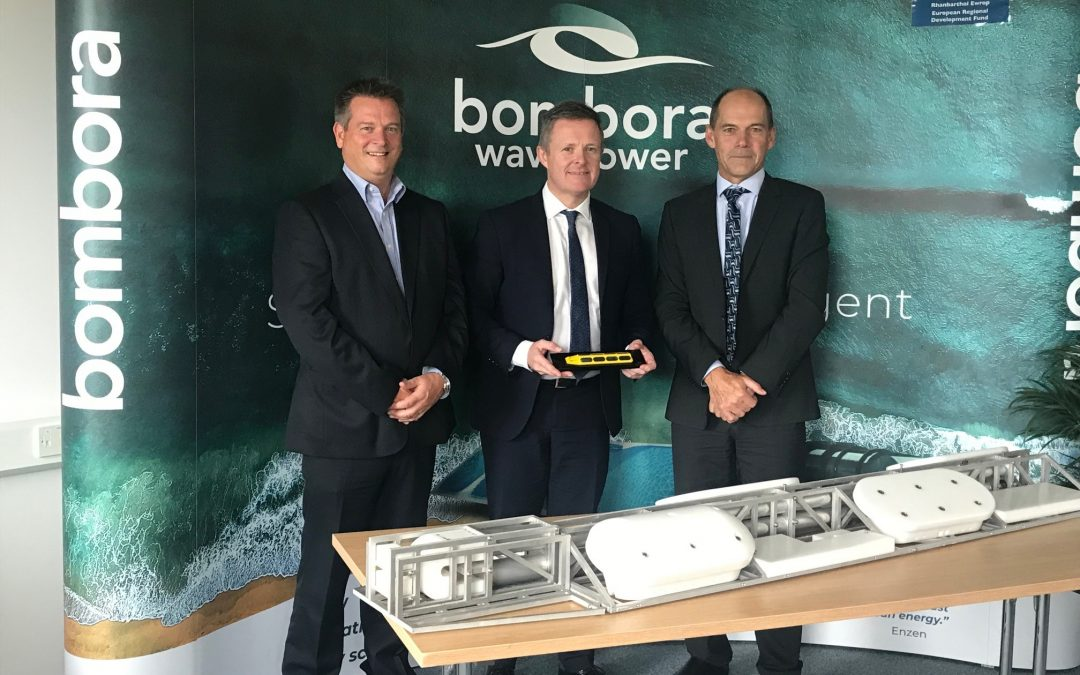 Minister Visits Bombora Wave Power HQ in Wales