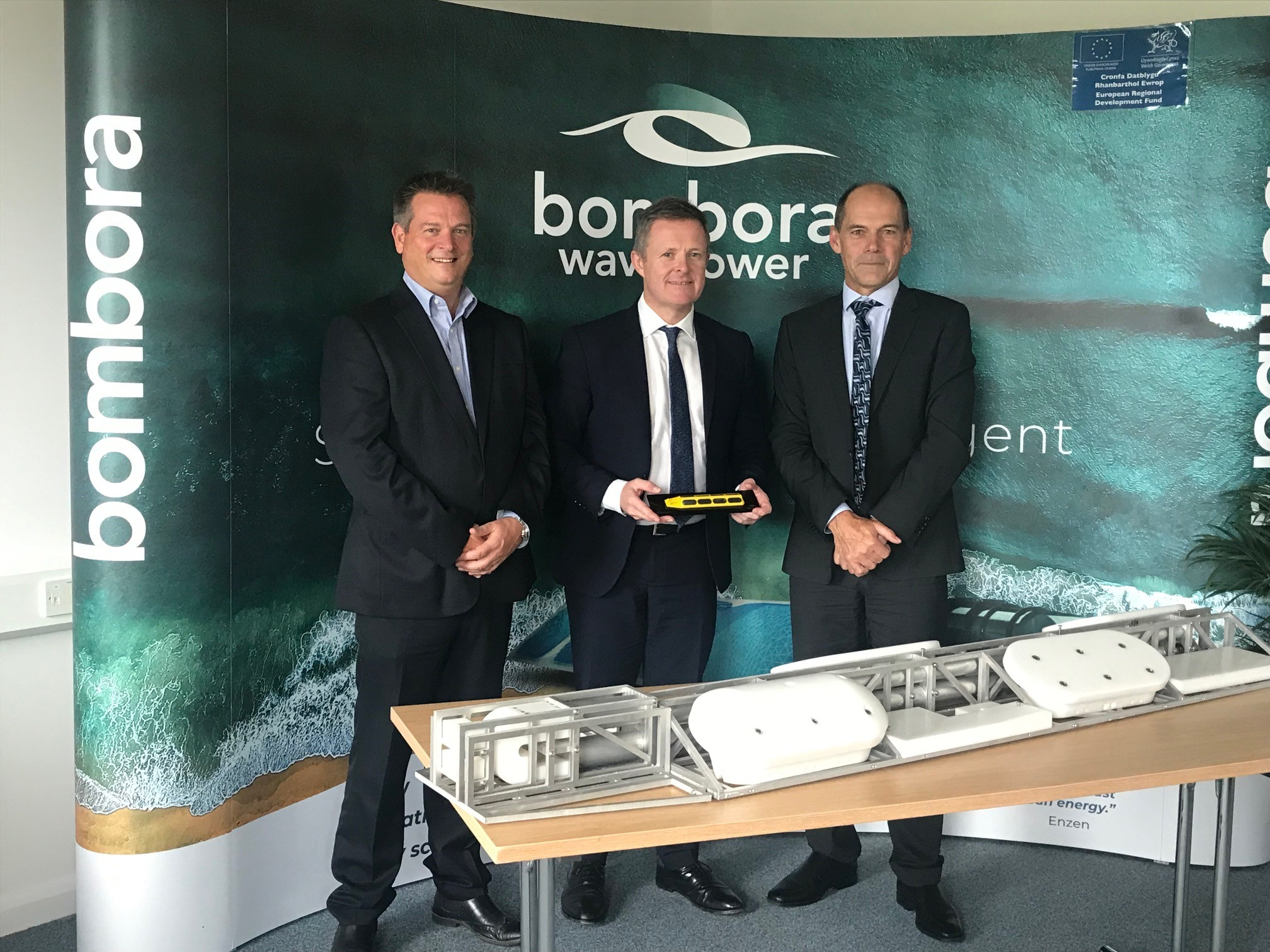 Jeremy Miles AM visit to Bombora Wave Power