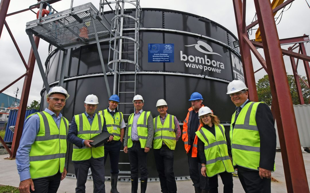 MP Simon Hart Energised by Impact of Bombora's Wave Power Project on Local Economy